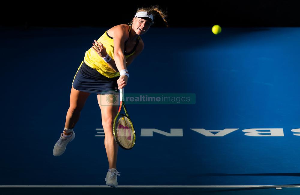 December 31, 2018 - Brisbane, AUSTRALIA - KIKI BERTENS of the Netherlands in action against  Elise Mertens of Belgium during their first-round match at the 2019 Brisbane International WTA Premier tennis tournament. Bertens won 6:2, 6:7, 6:4.  (Credit Image: © AFP7 via ZUMA Wire)
