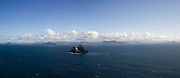 A panoramic view of Little Skellig Rock off the Kerry coast  where Gannets, Ireland's largest seabirds, fly around. Later in October the birds will migrate towards the west coast of Africa beforre returning again in Spring.<br /> Picture by Don MacMonagle