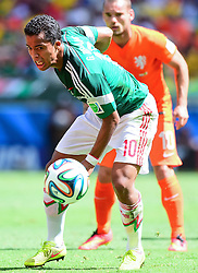 29.06.2014, Castelao, Fortaleza, BRA, FIFA WM, Niederlande vs Mexico, Achtelfinale, im Bild Giovani Dos Santos (Mexiko) // during last sixteen match between Netherlands and Mexico of the FIFA Worldcup Brazil 2014 at the Castelao in Fortaleza, Brazil on 2014/06/29. EXPA Pictures © 2014, PhotoCredit: EXPA/ fotogloria/ Best Photo Agency<br /> <br /> *****ATTENTION - for AUT, FRA, POL, SLO, CRO, SRB, BIH, MAZ only*****