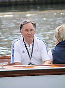 Henley, Great Britain.  Henley Royal Regatta. Miles FORBES-THOMAS, GBR Coach, in Umpires Launch. River Thames Henley Reach.  Royal Regatta. River Thames Henley Reach.  Saturday  02/07/2011  [Mandatory Credit  Intersport Images] . HRR