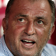 Galatasaray's head coach Fatih Terim during their friendly soccer match Galatasaray between ACF Fiorentina at the TT Arena in istanbul Turkey on Wednesday 08 August 2012. Photo by TURKPIX