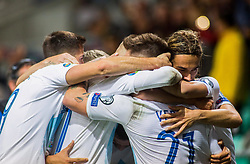 Players of Slovenia celebrate after Benjamin Verbic of Slovenia scoring first goal during the 2020 UEFA European Championships group G qualifying match between Slovenia and Israel at SRC Stozice on September 9, 2019 in Ljubljana, Slovenia. Photo by Ziga Zupan / Sportida