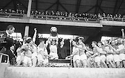 GAA All Ireland Minor Football final Cork V. Offaly 27th September 1964 at Croke Park..Presentation of cup to Offaly Captain ..27.9.1964  27th September 1964