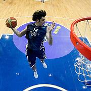 Anadolu Efes's Kerem Gonlum during their Turkish Basketball league derby match Fenerbahce Ulker between Anadolu Efes at the Ulker Sports Arena in Istanbul, Turkey, Monday, April 29, 2013. Photo by Aykut AKICI/TURKPIX
