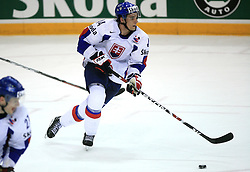 Andrej Sekera of Slovakia at ice-hockey game Slovenia vs Slovakia at second game in  Relegation  Round (group G) of IIHF WC 2008 in Halifax, on May 10, 2008 in Metro Center, Halifax, Nova Scotia, Canada. Slovakia won after penalty shots 4:3.  (Photo by Vid Ponikvar / Sportal Images)