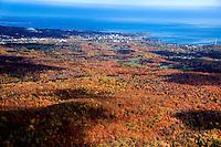 Marquette County Aerial, Fall Colors, Marquette, Michigan