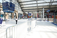 Liverpool Lime Street Station social distancing measures