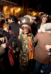October 31, 2005. New Orleans, Louisiana. <br /> Halloween, post Katrina, New Orleans. As the city returns to a strange sense of normalcy and the citizens return, New Orleans once again hosts a Halloween parade and party. <br /> Photo; ©Charlie Varley/varleypix.com