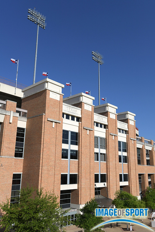 General overall view of Darrell K Royal–Texas Memorial Stadium on the campus of the University of Texas in Austin, Tex., Friday, March 30, 2018. The facility has been home to the University of Texas at Austin Longhorns football team since 1924.
