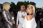 Princess Marie-Chantal of Greece, India Hicks and Alexandra von Furstenburg.  Louis Vuitton classic and celebration of their 150 anniversary. Waddesdon Manor, June 4 2004. ONE TIME USE ONLY - DO NOT ARCHIVE  © Copyright Photograph by Dafydd Jones 66 Stockwell Park Rd. London SW9 0DA Tel 020 7733 0108 www.dafjones.com