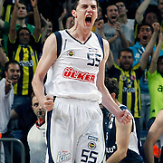 Fenerbahce's Emir PRELDZIC during their Turkish Basketball Legague Play-Off semi final first match Fenerbahce between Efes Pilsen at the Sinan Erdem Arena in Istanbul Turkey on Tuesday 24 May 2011. Photo by TURKPIX