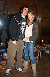 JASPER KAVANAGH and VIOLET VON WESTENHOLTZ at the AJM International Publishing Party to celebrate 4 years as publishers of PrivatAir Magazine and the Cartier International Polo Magazine held at Rooms Eleven, 11 Grosvenor Place, London on 24th May 2005.<br />