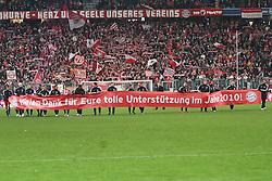 11.12.2010, Allianz Arena, Muenchen, GER, 1.FBL, FC Bayern Muenchen vs  FC St. Pauli, im Bild  Dei Bayern bedanken sich bei den Fans, EXPA Pictures © 2010, PhotoCredit: EXPA/ nph/  Straubmeier       ****** out ouf GER ******