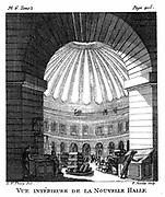 Les Halles, Paris. This famous French food market was moved to the suburbs in 1960s. From Thiery 'Guide des Amateurs et des Etranger Voyageurs a Paris' Paris 1786.