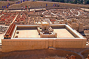 Israel, Jerusalem, Israel Museum. Model of Jerusalem in the late second temple period 66CE scale of 1:50. The temple