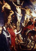 Le Coup de Lance'. Soldiers piercing Christ's side to make sure he was dead.  Peter Paul Rubens (1577-1640) Flemish painter.