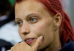 Nina Kolaric of Slovenia after she competed in the women's Long Jump Qualification during day seven of the 12th IAAF World Athletics Championships at the Olympic Stadium on August 21, 2009 in Berlin, Germany.(Photo by Vid Ponikvar / Sportida)