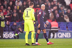 December 20, 2017 - Paris, France - 29 Kylian MBAPPE (psg) - 01 REMY VERCOUTRE (psg) - ALTERCATION (Credit Image: © Panoramic via ZUMA Press)