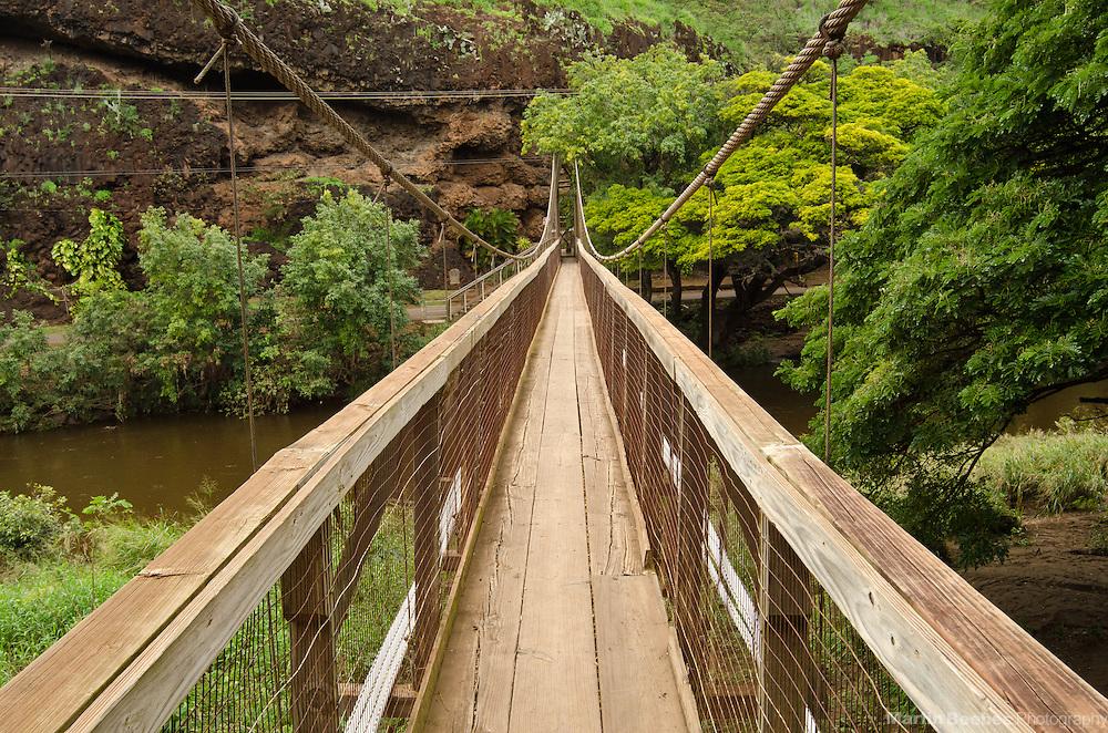 The Waimea Swinging Bridge, Waimea, Kauai, Hawaii