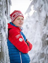 27.11.2014, Nordic Arena, Ruka, FIN, OESV, Nordische Kombinierer, Fotoshooting, im Bild Bernhard Flaschberger (AUT) // Bernhard Flaschberger of Austria during the Photoshooting of the Ski Austria Nordic Combined Team at the Nordic Arena, Ruka, Finland on 2014/11/27 . EXPA Pictures © 2014, PhotoCredit: EXPA/ JFK