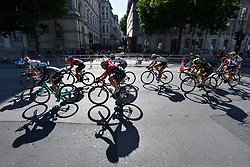 © Licensed to London News Pictures. 11/06/2017. London, UK. Riders pass Downing Street during the 62km London stage of the OVO Energy Women's Tour.  Photo credit : Stephen Chung/LNP