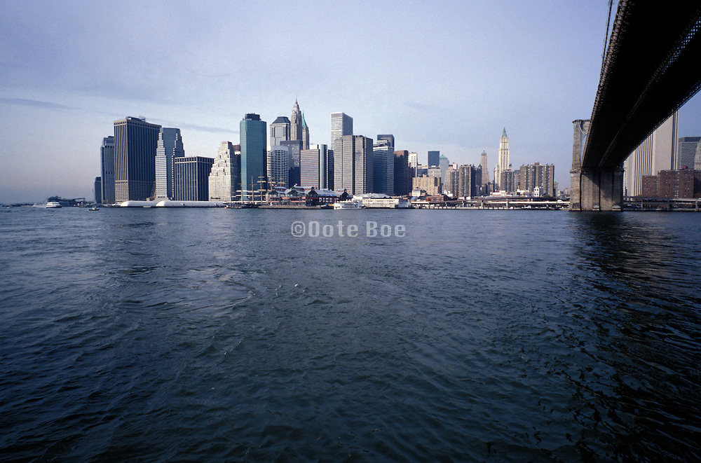 downtown Manhattan seen from Brooklyn