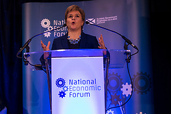 Plans to increase Scotland's exports are unveiled by First Minister Nicola Sturgeon at the 22nd National Economic Forum in Edinburgh.<br /> <br /> The First Minister officially launched 'A Trading Nation' an export plan which aims to grow the value and range of Scottish products, services and businesses in overseas markets.<br /> <br /> Pictured: First Minister Nicola Sturgeon