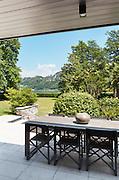 patio of a villa, modern furniture, outdoor