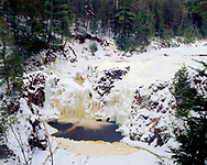 Copper Falls State Park, Wisconsin, January, 1985.
