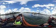 London. UNITED KINGDOM.  360 degree view of the The 71st Newton Women's Boat Race, in progress, on the Championship Course, River Thames, Putney/Mortlake.  Sunday  27/03/2016    [Mandatory Credit. Intersport Images]<br /> <br /> Oxford University Women's Boat Club {OUWBC} vs Cambridge University Women's Boat Club {CUWBC} <br /> <br /> Oxford, Crew Cox – Morgan Baynham-Williams, Stroke – Lauren Kedar, 7 – Maddy Badcott, 6 – Anastasia Chitty, 5 – Elo Luik, 4 – Ruth Siddorn, 3 – Joanneke Jansen, 2 – Emma Spruce, Bow – Emma Lukasiewicz<br /> <br /> Cambridge, Crew Bow Ashton Brown, 2 Fiona Macklin, 3 Alice Jackson, 4 Thea Zabell, 5 Daphne Martschenko, 6 Myriam Goudet, 7 Hannah Roberts, Stroke Zara Goozee, Cox Rosemary Ostfeld.