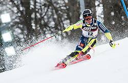 """Mattias Hargin (SWE) competes during 1st Run of FIS Alpine Ski World Cup 2017/18 Men's Slalom race named """"Snow Queen Trophy 2018"""", on January 4, 2018 in Course Crveni Spust at Sljeme hill, Zagreb, Croatia. Photo by Vid Ponikvar / Sportida"""