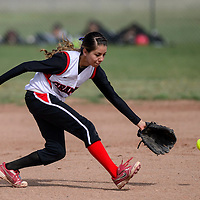 040715       Cable Hoover<br /> <br /> Grants Pirate Desiree Melonas (5) chases after a grounder from the Gallup Bengals Tuesday in Grants.