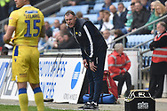 Bristol Rovers manager Graham Coughlan during the EFL Sky Bet League 1 match between Coventry City and Bristol Rovers at the Ricoh Arena, Coventry, England on 7 April 2019.