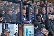 AFC Wimbledon manager Wally Downes looking onto pitch from dug out during the EFL Sky Bet League 1 match between Southend United and AFC Wimbledon at Roots Hall, Southend, England on 16 March 2019.