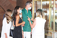 King Felipe VI of Spain, Queen Letizia of Spain visit to the National Museum of Roman Art on July 22, 2020 in Merida, Spain