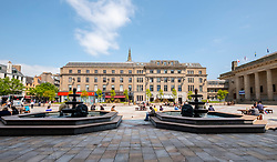 View of the City Square in Dundee, Scotland, UK