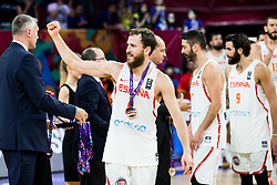 Sergio Rodriguez of Spain celebrates at medal ceremony after placed third during basketball match between National Teams  Spain and Russia at Day 18 in 3rd place match of the FIBA EuroBasket 2017 at Sinan Erdem Dome in Istanbul, Turkey on September 17, 2017. Photo by Vid Ponikvar / Sportida