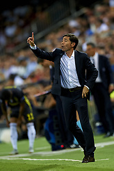 September 19, 2018 - Valencia, Spain - Marcelino Garcia Toral gives instructions during the Group H match of the UEFA Champions League between Valencia CF and Juventus at Mestalla Stadium on September 19, 2018 in Valencia, Spain. (Credit Image: © Jose Breton/NurPhoto/ZUMA Press)