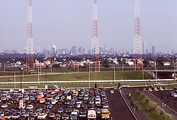 The Grateful Dead Live at Giants Stadium 02 September 1978. View of NYC from the Stadium