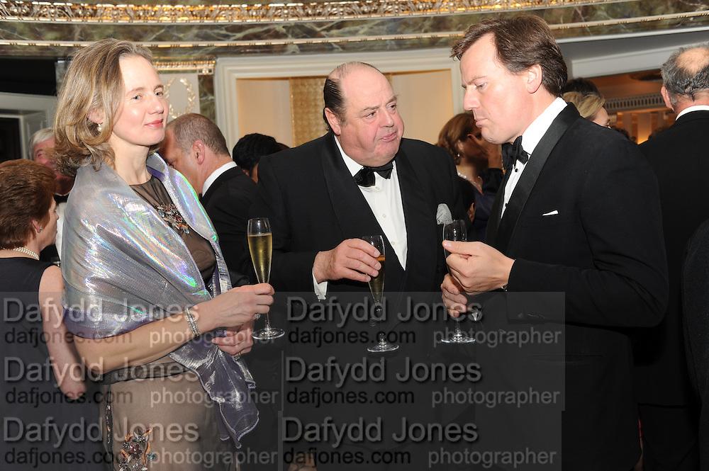 SERENA SOAMES; HON NICHOLAS SOAMES; JULIAN DOLLAR, The Cartier Racing Awards. The Ballroom, Dorchester hotel. Park Lane. London. 15 November 2011. <br /> <br />  , -DO NOT ARCHIVE-© Copyright Photograph by Dafydd Jones. 248 Clapham Rd. London SW9 0PZ. Tel 0207 820 0771. www.dafjones.com.