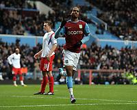 Nathan Delfouneso Celebrates Scoring 1st Goal<br /> Aston Villa 2009/10<br /> Aston Villa V Blackburn Rovers 02/01/10<br /> The FA Cup 3rd Round<br /> Photo Robin Parker Fotosports International