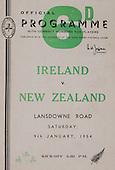 Rugby 09/01/1954 Tour Match Ireland Vs New Zealand