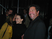 Phillipe Starck and his daughter Ara. Yoo party. Hall Rd. London NW8. 28 September 2000. © Copyright Photograph by Dafydd Jones 66 Stockwell Park Rd. London SW9 0DA Tel 020 7733 0108 www.dafjones.com