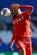 Nottingham Forest's Lewis Grabban (7) in action during the EFL Sky Bet Championship match between Cardiff City and Nottingham Forest at the Cardiff City Stadium, Cardiff, Wales on 2 April 2021.
