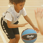 Audrianna Jeralds dribbles during Halo Basketball Saturday December 20, 2014 at Grace United Methodist Church in Wilmington, N.C. (Jason A. Frizzelle)