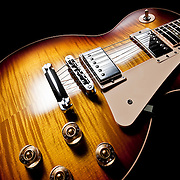 A Les Paul Guitar photograph, part of a range of shots, created in the Hype photography studio, Basingstoke Hampshire UK by photographer Stuart Freeman.