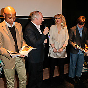 NLD/Amsterdam/20120309 - Onthulling kleden voor Care & Fair, Prinses Margarita de Bourbon de Parme, Humberto Tan, Peter Tuinman, hoodrdactrice Residence, Piet Paris en Marc Janssen