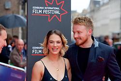 "Jessica Brown Findlay and Jack Lowden, on the red carpet at the Edinburgh International Film Festival world Premier of ""England is Mine"" at Edinburgh's Festival Theatre. Sunday, 2nd July, 2017(c) Brian Anderson | Edinburgh Elite media"