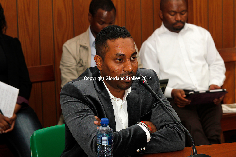 DURBAN - 24 July 2014 - Described as an uncooperative witness, Ravi Jagadasan, the owner of Rectangle Property Investments, the company that was developing the ill-fated Tongaat Mall, answers questions at a Department of Labour commission of inquiry established to probe the events that led to its collapse, killing two people and injuring 29 on November 19, 2013. Jagadasan is the son of controversial Durban businessman Jay Singh. Picture: Allied Picture Press/APP