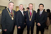 19/03/2014 At a Japanese evening at the Galway Education Centre was City Mayor Cllr Padraic Conneelly,  and Bernard Kirk GEC, County Mayor Cllr Liam Carrol and Yuichi Yamada, Second Secretary of the Japanese Embassy in Ireland. Photo:Andrew Downes .